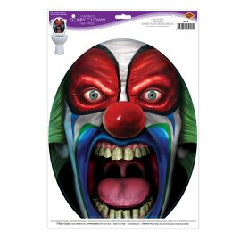 12 Units of Under The Lid Scary Clown Peel 'N Place - Store