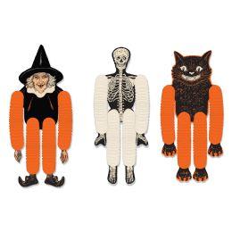12 Units of Vintage Halloween Tissue Dancers - Store