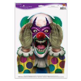12 Units of Scary Clown Peeper Cling - Store