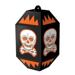 12 Units of Vintage Halloween Skull Paper Lanterns assembly required - Store