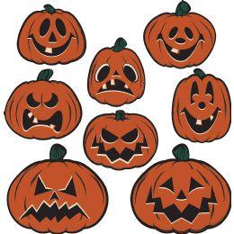 12 Units of Vintage Halloween Pumpkin Cutouts prtd 2 sides - Store