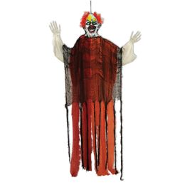 Clown Creepy Creature posable arms & flashing red eyes; indoor use only; batteries included; no retail packaging - Store
