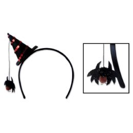 12 Units of Spider Witch Hat Headband Attached To SnaP-On Headband - Costumes & Accessories