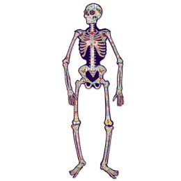 12 Units of Jointed Day Of The Dead Skeleton - Party Supplies
