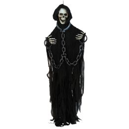 Skeleton W/chains Creepy Creature Posable Arms; Indoor Use Only; No Retail Packaging - Party Novelties