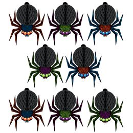 12 Units of Mini Tissue Spiders 6' Cord Included - Party Center Pieces