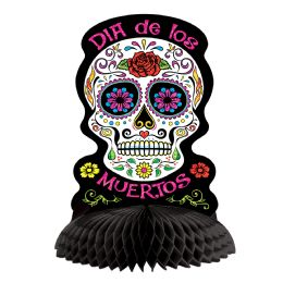 12 Units of Day Of The Dead Centerpiece Glitter Print - Party Center Pieces
