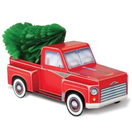 12 Units of 3-D Christmas Truck Centerpiece 1-6  Tissue Christmas Tree Included; Assembly Required - Party Center Pieces
