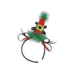 12 Units of Holiday Hat Headband Attached To SnaP-On Headband - Costumes & Accessories