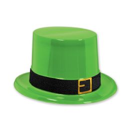 25 Units of Plastic Leprechaun Top Hat One Size Fits Most - Costumes & Accessories