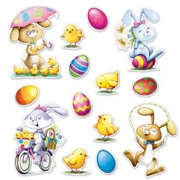 12 Units of Easter Cutouts prtd 2 sides - Easter