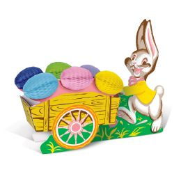 12 Units of Vintage Easter Bunny w/Cart assembly required - Easter