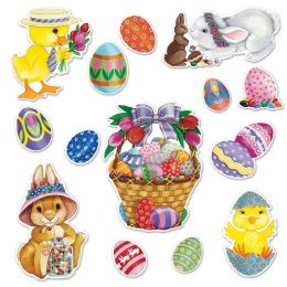 12 Units of Easter Basket & Friends Cutouts prtd 2 sides - Store