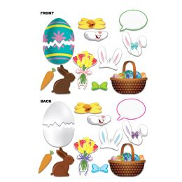 12 Units of Easter Photo Fun Signs prtd 2 sides w/different designs - Store