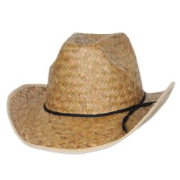 60 Units of HI-Crown Western Hat W/shoelace Band One Size Fits Most - Sun Hats