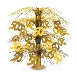6 Units of 50  Cascade Centerpiece Gold - Party Center Pieces