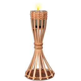 6 Units of Tabletop Bamboo Torch Candle Included - Candles & Accessories