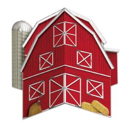 12 Units of 3-D Barn Centerpiece Assembly Required - Party Center Pieces