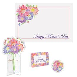 6 Units of Mother's Day Place Setting Kit - Party Supplies