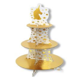 12 Units of Unicorn Cupcake Stand Assembly Required - Party Center Pieces