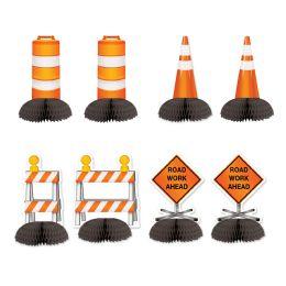 12 Units of Construction Mini Centerpieces - Party Center Pieces