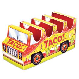 12 Units of 3-D Taco Truck Centerpiece Assembly Required - Party Center Pieces