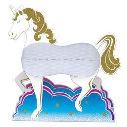 12 Units of Unicorn Centerpiece Glitter Print - Party Center Pieces