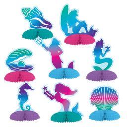 12 Units of Mermaid Mini Centerpieces - Party Center Pieces