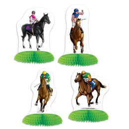 12 Units of Horse Racing Mini Centerpieces Different Design Front & Back - Party Center Pieces