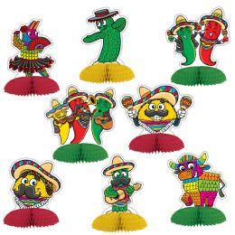 12 Units of Fiesta Mini Centerpieces - Party Center Pieces