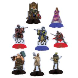 12 Units of Medieval Mini Centerpieces - Party Center Pieces