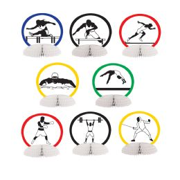 12 Units of Summer Sports Mini Centerpieces Different Design Front & Back - Party Center Pieces