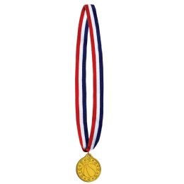 12 Units of Basketball Medal w/Ribbon - Party Favors