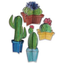 12 Units of 3-D Cactus Centerpieces Assembly Required - Party Center Pieces