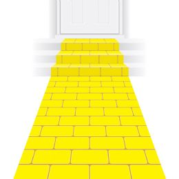 6 Units of Yellow Brick Runner Prtd Polyester W/doublE-Stick Tape - Store
