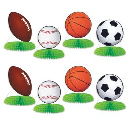 12 Units of Sports Ball Mini Centerpieces - Party Center Pieces