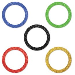 12 Units of Sports Party Rings Del Sparkle Confetti MultI-Color - Party Novelties