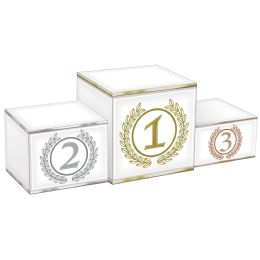 12 Units of 3-D Podium Centerpiece Assembly Required - Party Center Pieces