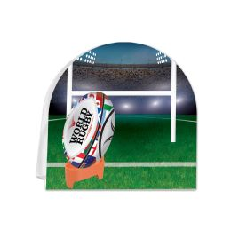 12 Units of 3-D Rugby Centerpiece - Party Center Pieces