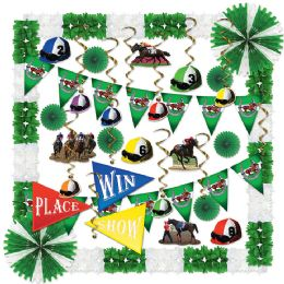 Horse Racing Decorating Kit Piece Count: 37 - Party Supplies
