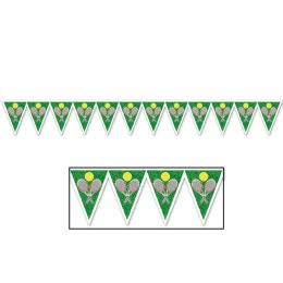 12 Units of Tennis Pennant Banner all-weather; 12 pennants/string; 2 grommets - Party Banners