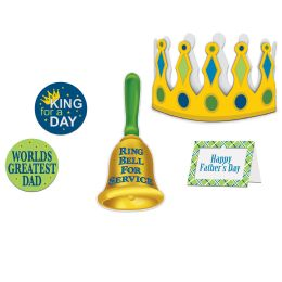 6 Units of Father's Day King For A Day Kit - Party Supplies