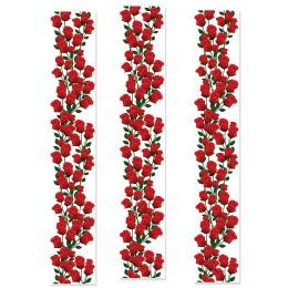 12 Units of Roses Party Panels - Party Novelties