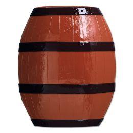 24 Units of Plastic Barrel Brown W/black Print - Party Supplies
