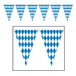12 Units of Oktoberfest Pennant Banner all-weather; 65 pennants/string - Party Banners
