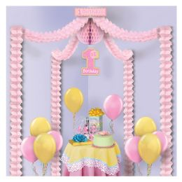 6 Units of 1st Birthday Party Canopy Covers Approximately 20'x20' Area - Party Novelties