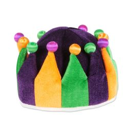 6 Units of Plush Jester Crown One Size Fits Most - Costumes & Accessories