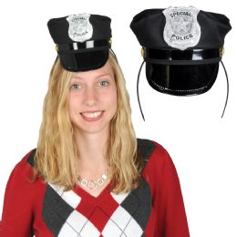 12 Units of Police Hat Headband Attached To SnaP-On Headband - Costumes & Accessories