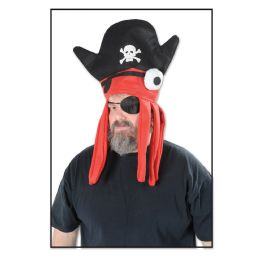 12 Units of Felt Pirate Squid Hat One Size Fits Most - Costumes & Accessories