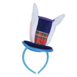 12 Units of Bunny Top Hat & Ears Headband Attached To SnaP-On Headband - Costumes & Accessories